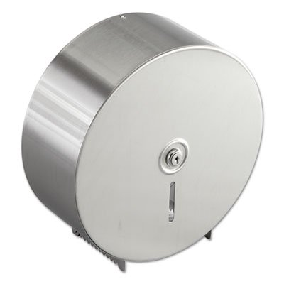 Bobrick Jumbo Toilet Tissue Dispenser, Stainless Steel, 10 21/32 x 4 1/2 x 10 5/8 -BOB2890