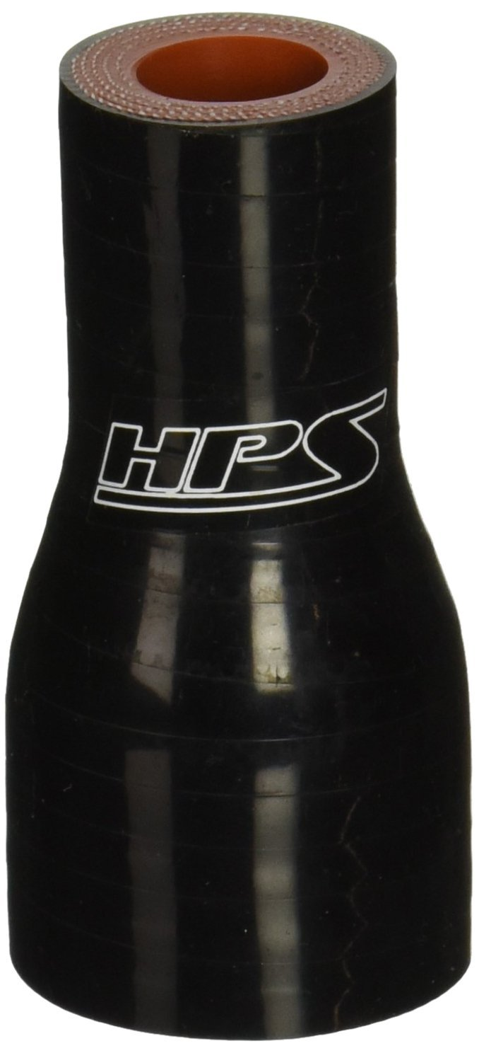 """HPS 7//8/"""" /> 1-1//8/"""" ID x 3/"""" Long Reinforced Silicone Reducer Coupler Hose Black"""