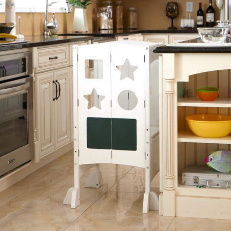 Surprising Classic Kitchen Helper White With Keeper And Non Slip Mat Caraccident5 Cool Chair Designs And Ideas Caraccident5Info
