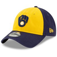 Milwaukee Brewers New Era Alternate Replica Core Classic 9TWENTY Adjustable Hat - Gold/Navy - OSFA