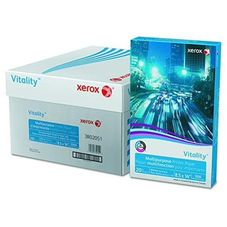 Xerox 500 Sheet Media (Xerox 3R02051 Vitality Multipurpose Printer Paper, 8 1/2 x 14, White, 500 Sheets/RM )