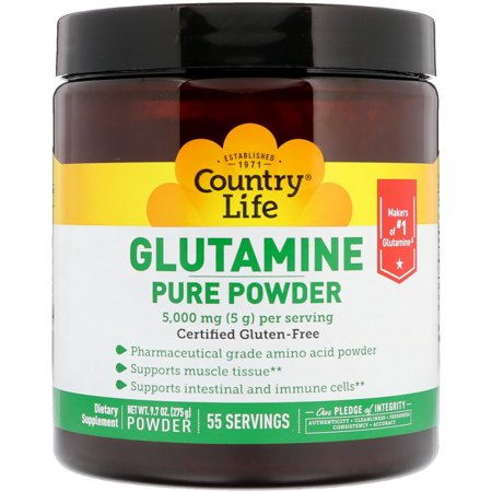 Country Life  Glutamine Pure Powder  5 000 mg  9 7 oz  275 g (Pure Glutamine Powder)