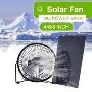 8 Usb Iron Solar Fan Cooler 5w Panel For Outdoor Home Cooling Ventilation