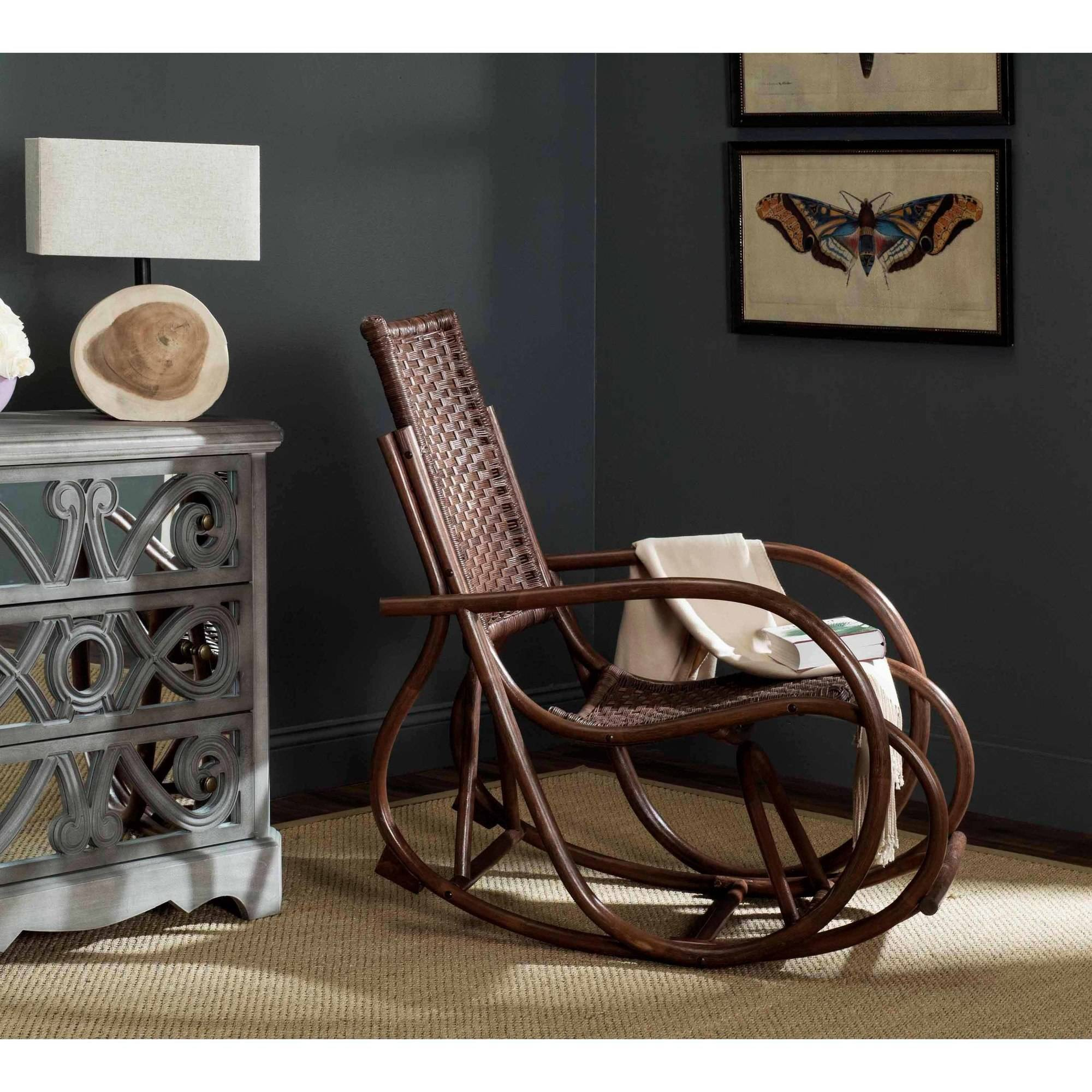 Safavieh Bali Rattan Rocking Chair, Multiple Colors