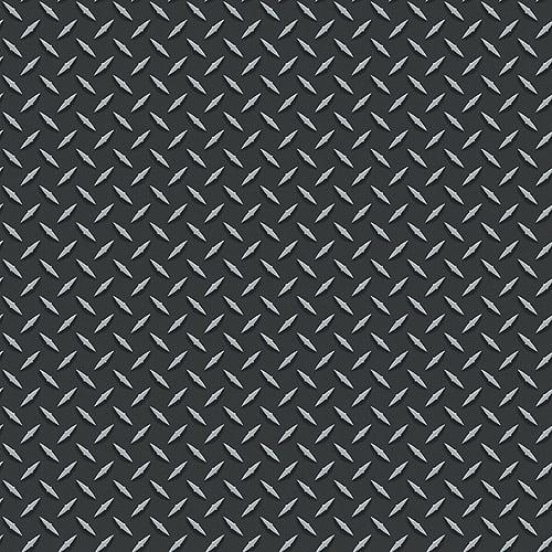 Blue Mountain Steel Floor Wallcovering, Black/Silver