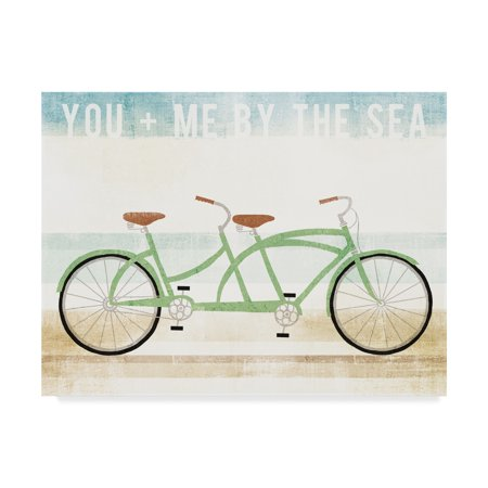 Trademark Fine Art 'Beach Cruiser Tandem v2' Canvas Art by Michael Mullan