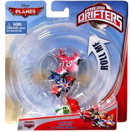 Disney Planes Micro Drifters Rochelle, Bulldog & El Chupacabra Vehicle