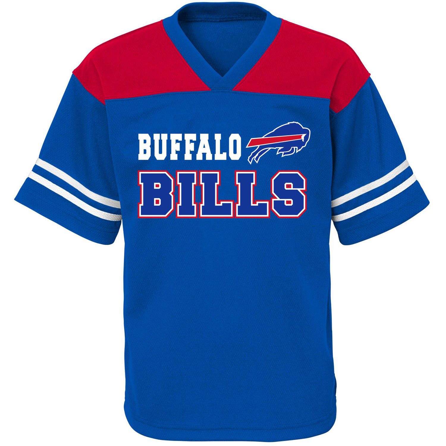 NFL Boys' Buffalo Bills Short Sleeve Mesh Team Top