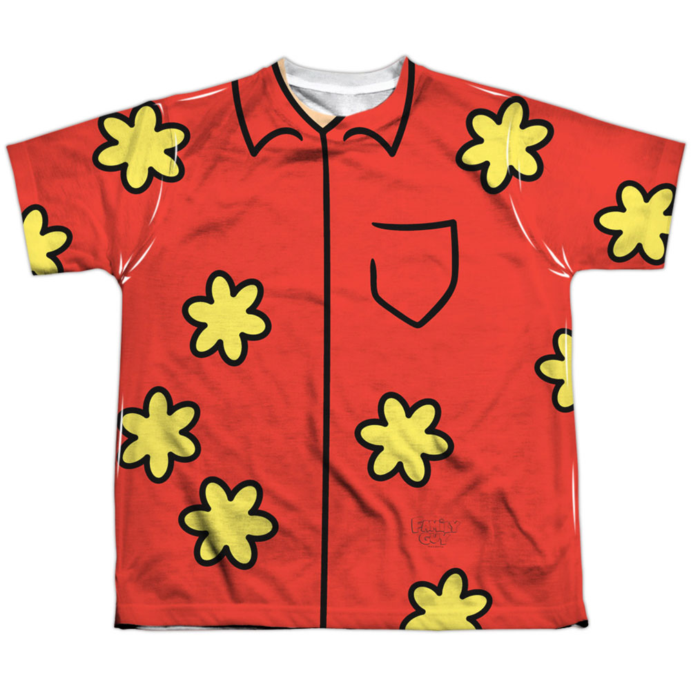 Family Guy Men's  Quagmire Costume Sublimation T-shirt White