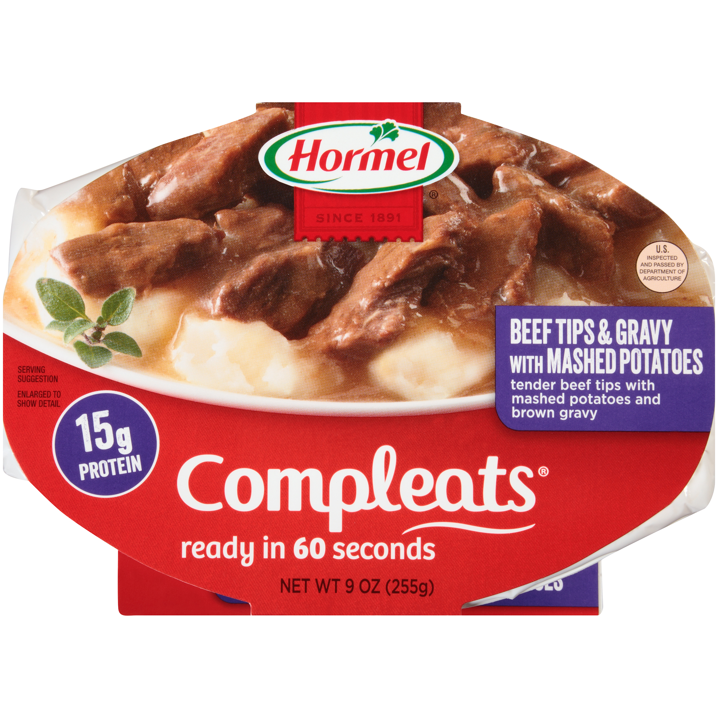 Hormel Beef Steak Tips W Mashed Potatoes & Gravy Compleats Microwave Bowls, 10 oz by Hormel
