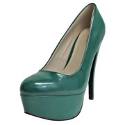 Luxury Divas Patent Leather Classic High Heel Pumps
