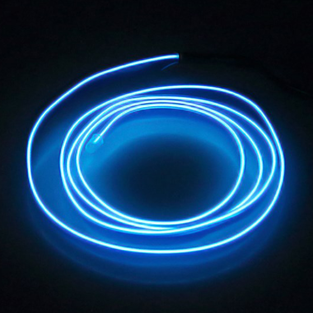 5M Flexible Neon Light Car EL Wire Rope Tube LED Strip Waterproof Party Decor Lamp With 12V Controller