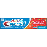(4 Pack) Crest Kid's Cavity Protection Toothpaste for Kids (children and toddlers 2+), Sparkle Fun Flavor, 2.7 ounces