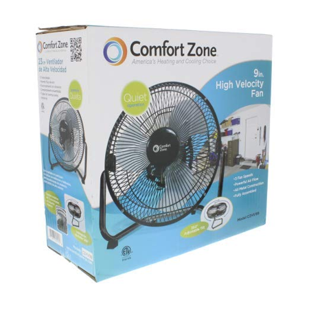 "Best Comfort Zone 9"" HV 3-Speed All Metal Cradle Fan deal"