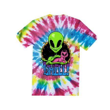 c5f9a5dd1bc6 Men's Chill Alien Graphic Tee - Walmart.com