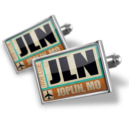 Cufflinks Airportcode JLN Joplin, MO - NEONBLOND (Party Supplies Joplin Mo)