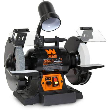 WEN 5-Amp 8-Inch Variable Speed Bench Grinder With Work Light,