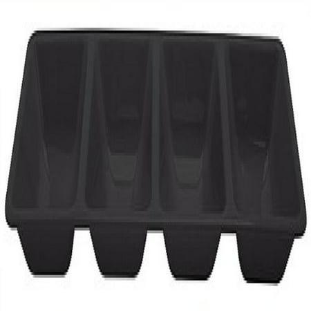 black plastic divided serving tray each. Black Bedroom Furniture Sets. Home Design Ideas
