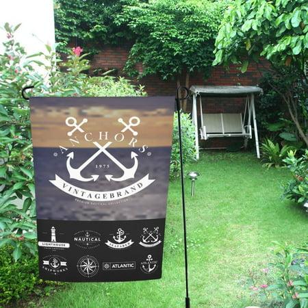 Nautical Garden Decor - MYPOP Nautical Badges And Labels Decor Garden Flag 12x18 inches