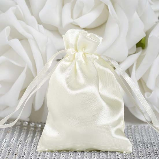"""Efavormart 60PCS  Satin Gift Bag Drawstring Pouch for Wedding Party Favor Jewelry Candy Solid Satin Bags - 3""""x4"""""""