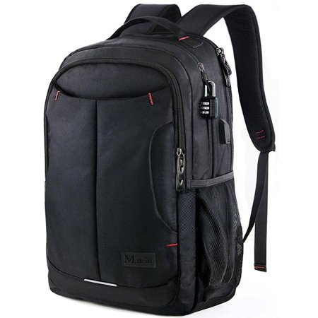 Laptop Backpack Slim Anti Theft Business Tech Bag With Lock Usb Charging Port For Travel
