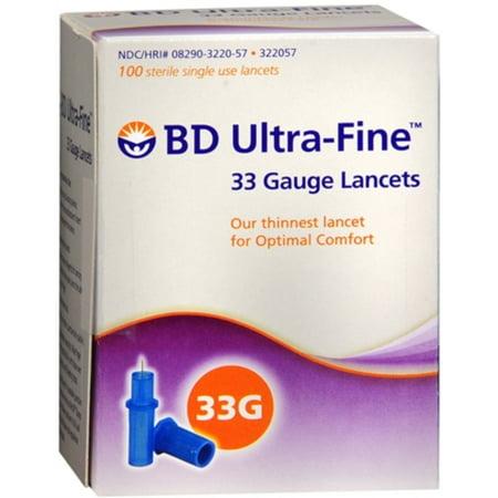 BD Ultra-Fine 33 Gauge Lancets 322057 100 Each