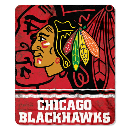 the northwest company chicago blackhawks 50 x 60 plush fleece