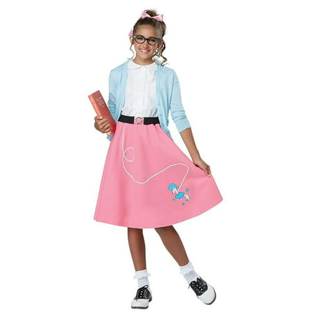 50's Pink Poodle Skirt Child (50's Girl Costume Accessories)