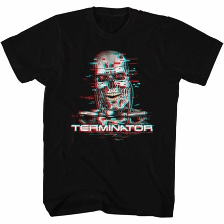 Terminator Movies Glitch Adult Short Sleeve T Shirt (Terminator Costumes For Adults)