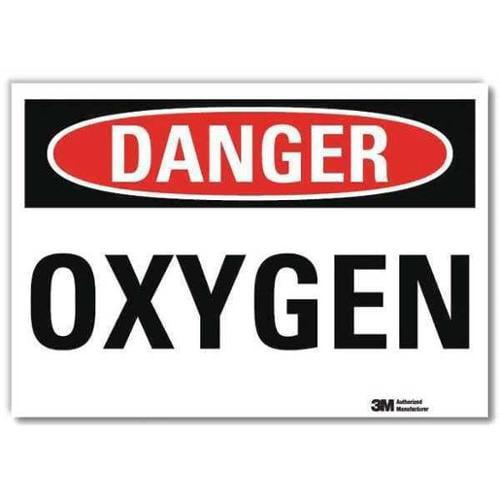 LYLE U3-1894-RD_7X5 Danger Sign,Self-Adhesv Mount,7inWx5inH G0707555