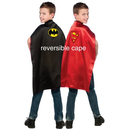 Batman Superman Reversible Dress Up Cape Unisex Child R4870 - Man Of Steel Dress