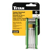 Titan Tools 12710 10 Piece Tamper Resistant Folding Star Key Set