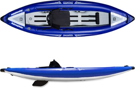 Aquaglide Klickitat One HB Inflatable Kayak with River Running Outlines by