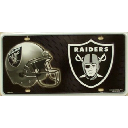 Oakland Raiders NFL Embossed Metal Novelty License Plate Tag Sign - Nfl Novelties