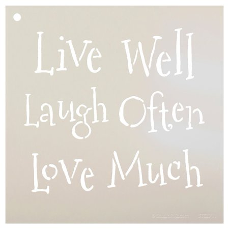 Journal Template (Live Laugh Love Stencil by StudioR12 | Whimsical Family Word Art - Small 7 x 7-inch Reusable Mylar Template | Painting, Chalk, Mixed Media | Use for Journaling, DIY Home Decor - STCL711_1 )