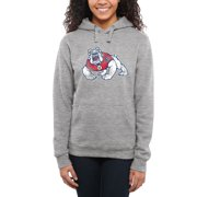 Fresno State Bulldogs Women's Classic Primary Pullover Hoodie - Ash -