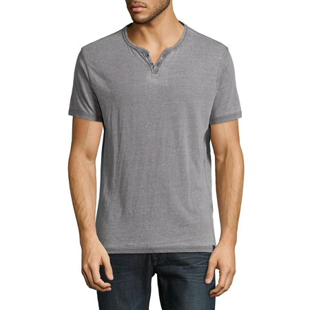 Venice Burnout Henley Tee Aqua Burnout T-shirt