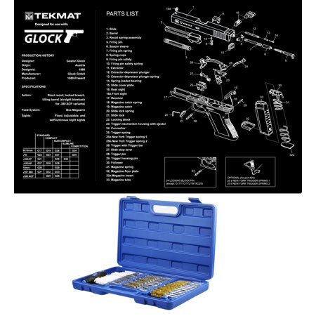 Ultimate Arms Gear Glock Poster Gun Schematics Wall Decoration + 38pc  Cleaning Kit Gun Tube Chamber Barrel Care Steel / Nylon / Brass Brush Set