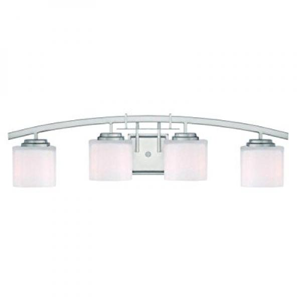 Hampton Bay 15042 Architecture 4-Light Brushed Nickel Vanity Light by Hampton Bay