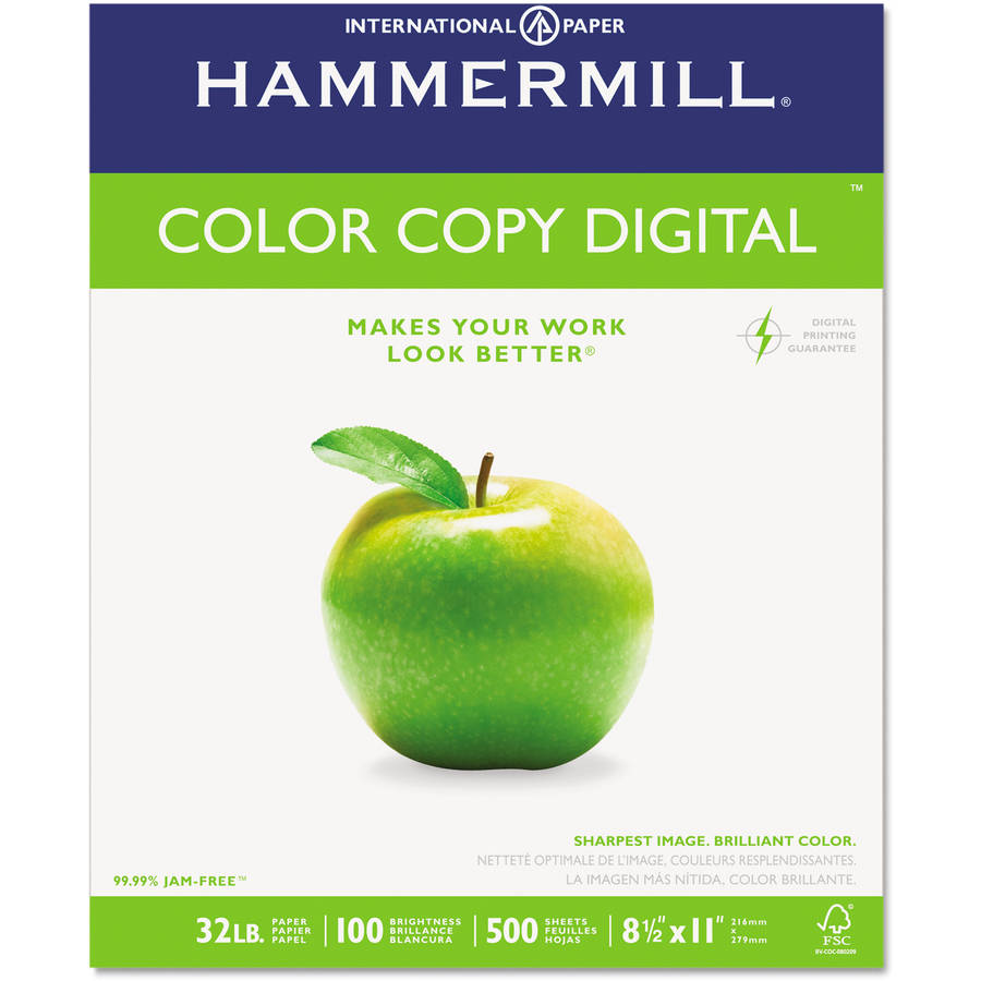 "Hammermill Color Copy Paper, 98 Brightness, 32 lbs, 8-1/2"" x 11"", Photo White, 500/Ream"