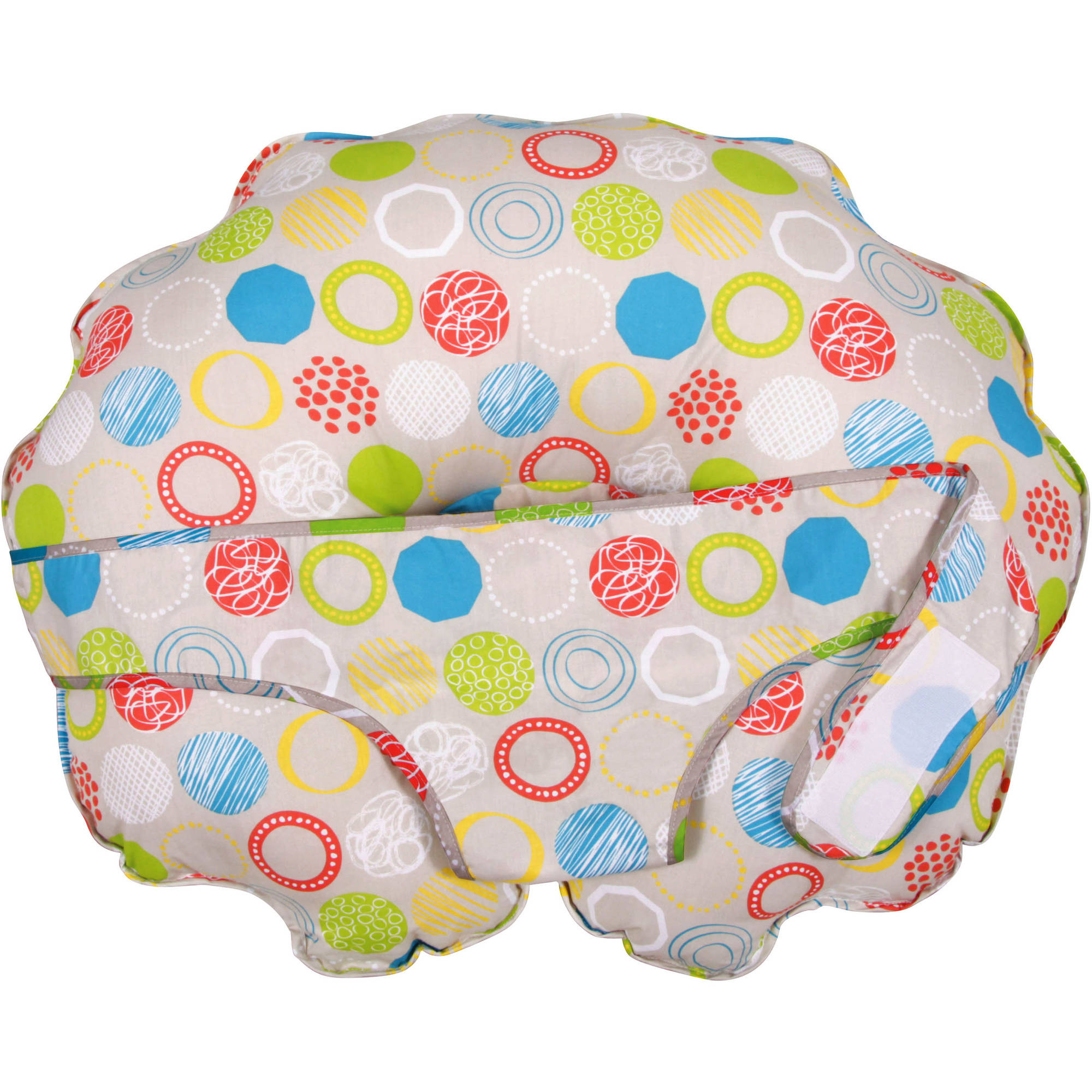 Leachco Cuddle-U Nursing Pillow & More with Slipcover, Whimsy Rounds