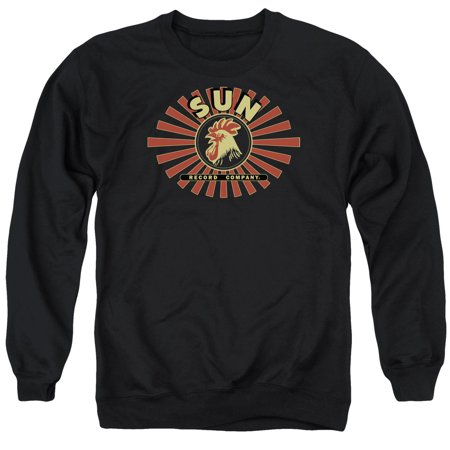 SUN/SUN RAY ROOSTER - ADULT CREWNECK SWEATSHIRT - BLACK - XL