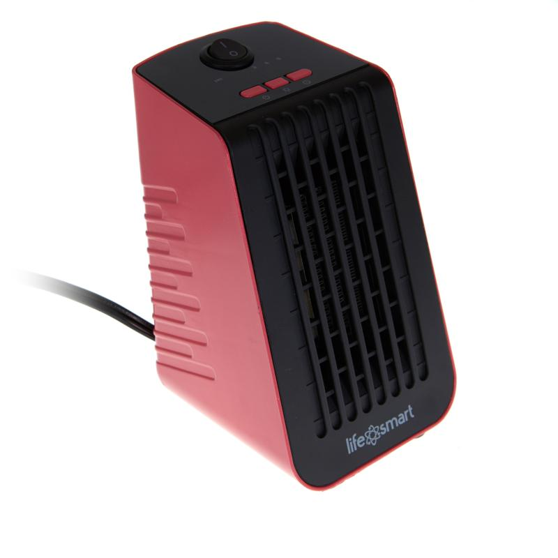 Life Smart Desktop Fanfunction Personal Heater Cubicle Coral Cooltouch Exterior