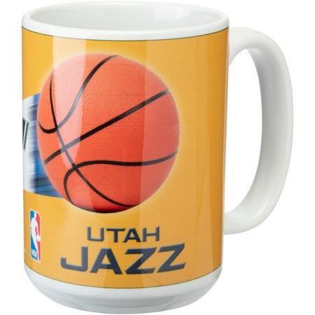 Nba Mug (Utah Jazz 15oz. Team 3D Graphic Mug - No Size )