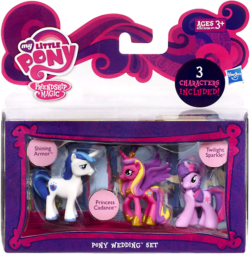 My Little Pony Character Collection Sets Pony Wedding Figure Set by