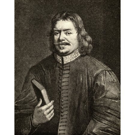 John Bunyan 1628-1688 Author Of the Pilgrims Progress From The Portrait By Sadler Canvas Art - Ken Welsh Design Pics (26 x 34)