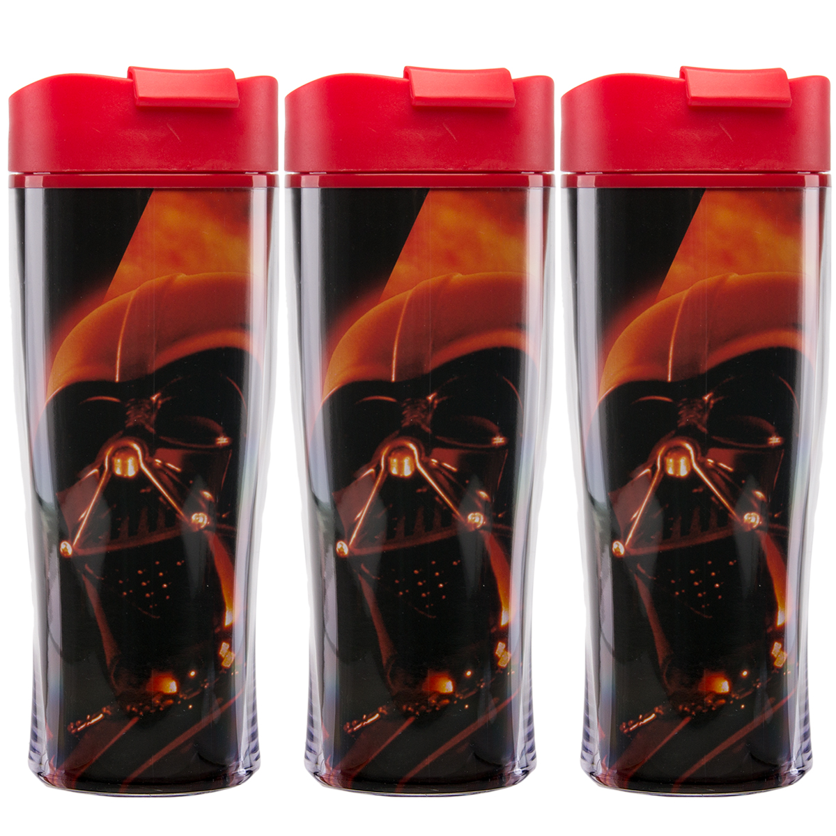 Zak (3 Pack) Darth Vader Star Wars Double Insulated 15oz Lidded Sipper Travel Tumbler