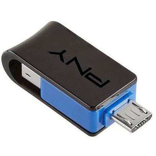 PNY 16GB Duo Link On-The-Go USB Flash Drive