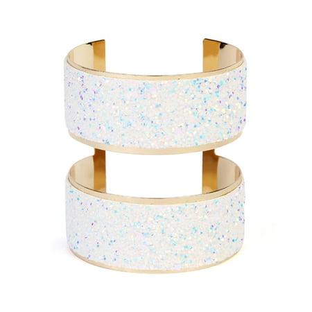 Glitter Arm Cuff Bracelet - Gold Snake Arm Cuff