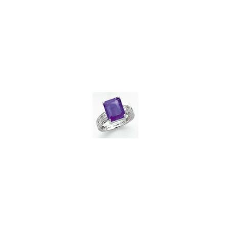 14k White Gold 12x10mm Emerald Cut Tanvorite AA Diamond ring Diamond quality AA (I1 clarity, G-I